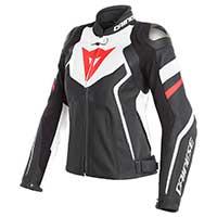 Dainese Avro 4 Lady Jacket Black White Red