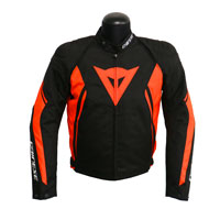 Dainese Avro D2 Tex Jacket Nero Rosso Fluo