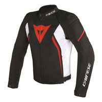 Dainese Avro D2 Tex Jacket Nero Bianco Rosso