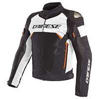 Dainese Dinamica Air D-dry Jacket Black White Fluo Red