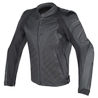 Dainese Fighter Perforated Leather Jacket Black