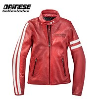 Dainese Freccia 72 Lady Leather Jacket Red