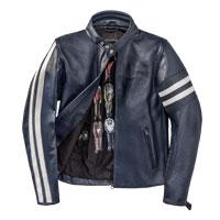 Dainese Freccia72 Leather Jacket Blue