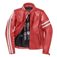 Dainese Freccia72 Giacca In Pelle Rosso