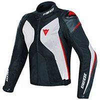 Dainese Giacca Super Rider D-dry Bianco Nero Rosso