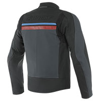 Dainese Hf 3 Leather Jacket Black Red Blue
