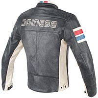 Dainese Hf D1 Leather Jacket Perforated Black/ice/ Red/blue