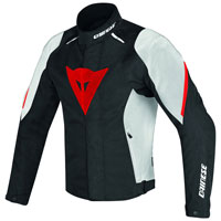 Dainese Laguna Seca D1 D-dry Jacket Black White Red