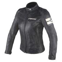 Dainese Lola D1 Lady Leather Jacket Black/ice Donna