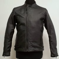 Dainese Mark D72 Leather Jacket Black