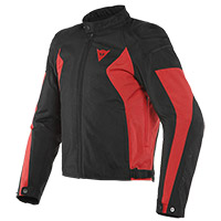 Dainese Mistica Tex Jacket Black Lava Red