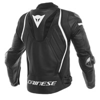 Dainese Mugello Leather Jacket Black White
