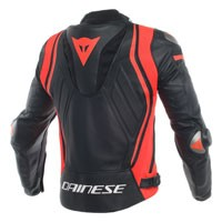 Dainese Mugello Leather Jacket Black Red