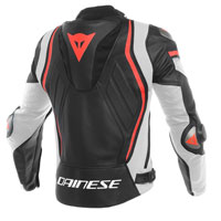 Dainese Mugello Leather Jacket Black Red White
