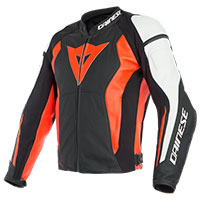 Dainese Leather Jacket Nexus Red White