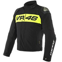 Dainese Vr46 Podium D-dry® Jacket Black Yellow