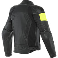 Dainese Vr46 Pole Position Leather Jacket Black