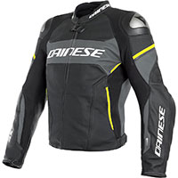 Giacca Di Pelle Dainese Racing 3 D-air® Giallo