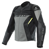 Giacca Pelle Dainese Racing 4 Charcoal Grigio