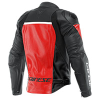 Giacca Pelle Dainese Racing 4 Lava Rosso Nero