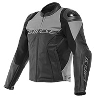 Giacca Pelle Dainese Racing 4 Perforated Grigio