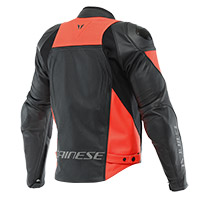 Giacca Pelle Dainese Racing 4 Perforated Rosso Fluo