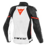 Dainese Racing 3 Lady Leather Jacket Bianco Donna