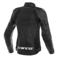Dainese Racing 3 Perforated Lady Lederjacke Schwarz - 2