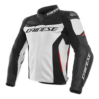 Dainese Racing 3 Leather Jacket Bianco
