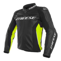 Dainese Racing 3 Leather Jacket Giallo