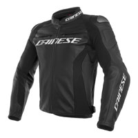 Dainese Racing 3 Perforated Leather Jacket Black