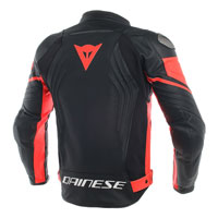 Dainese Racing 3 Perforated Leather Jacket Nero Rosso