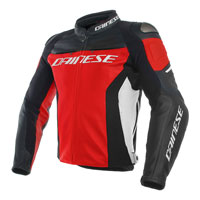 Dainese Racing 3 Leather Jacket Rosso