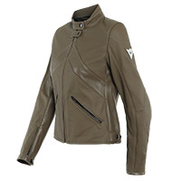Dainese Santa Monica Air Lady Leather Jacket Brown