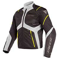 Dainese Sauris D-dry Jacket Black White Yellow