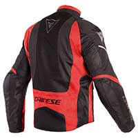 Dainese Sauris D-dry Jacket Black Red Light Gray