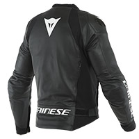 Dainese Sport Pro Leather Jacket Black White