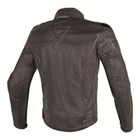Dainese Street Darker Perforated Leather Jacket Brown