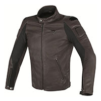 Dainese Street Darker Perforated Leather Jacket Marrone