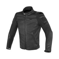 Dainese Street Darker Perforated Leather Jacket Black