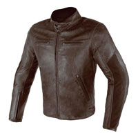 Dainese Stripes D1 Leather Jacket Estivo Marrone