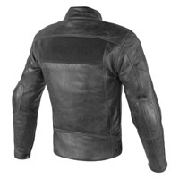 Dainese Stripes D1 Leather Jacket Perforated Black