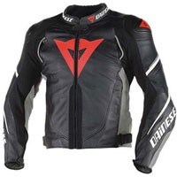 Dainese Super Speed D1 Perforated Leather Jacket Black Antracite White