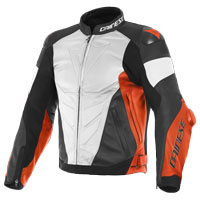 Dainese Super Race Leather Jacket White Red