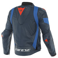 Dainese Super Race Leather Jacket Black Blue