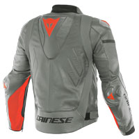 Dainese Super Race Leather Jacket Gray Red