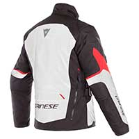 Dainese Giacca Tempest 2 D-dry Bianco Rosso Nero - 2
