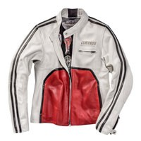 Dainese Giacca In Pelle Toga72 Bianco Rosso