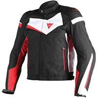 Dainese Veloster Tex Jacket Black Red