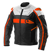 Blouson Cuir Eleveit Rc Pro Blanc Orange